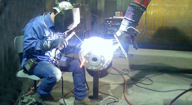 Micro Air TM1000 captures weld smoke and fumes, reducing hexavalent chromium to below OSHA PEL limits.