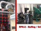 Micro Air® RP8-2, central system, collecting grinding dust from twelve grinding / buffing stations located in two separate rooms.