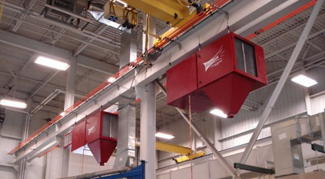 MC3000's installed in racetrack configuration can be a cost-effective method to provide clean, safe air to plant employees.