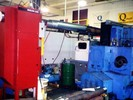 Micro Air OM3510 oil mist collector ducted to machining center.