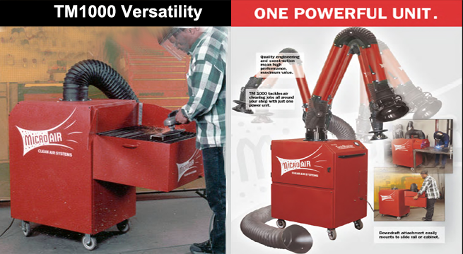 TM1000 Taskmaster is engineered for versatility with multiple attachment options.