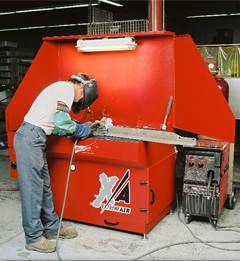 Micro Air's XA34 Extreme Air downdraft tables are ideal for use in welding, grinding, & deburring, sanding and finishing, soldering, powder mixing, and buffing applications.